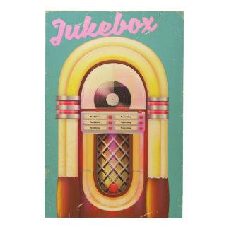 La colle vintage de juke-box impression sur bois