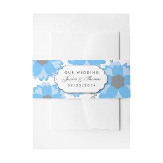 La collection bleue de mariage de fleur bandeaux de faire-part