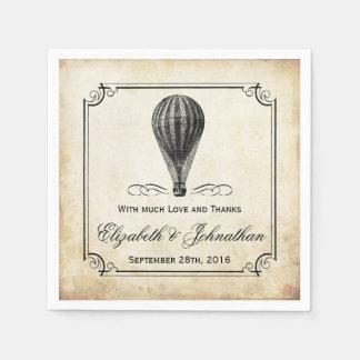La collection chaude vintage de mariage de ballon serviettes en papier