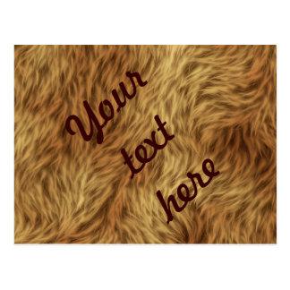 La collection de fourrure - fourrure hirsute carte postale