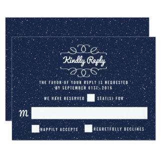 La collection de mariage de nuit étoilée - RSVP Carton D'invitation 8,89 Cm X 12,70 Cm