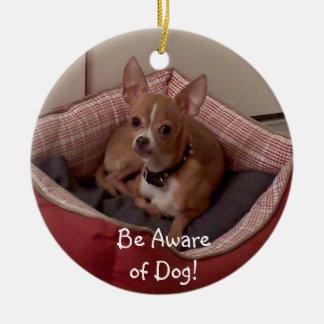 La collection de Noël ajoutent la photo d'animal Ornement Rond En Céramique