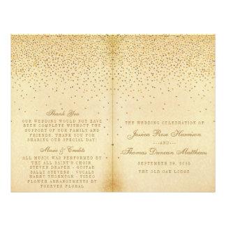 La collection fascinante vintage de mariage de prospectus 21,6 cm x 24,94 cm