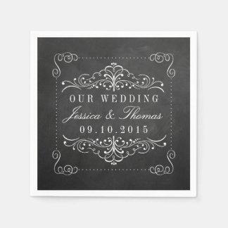 La collection fleurie de mariage de tableau serviettes en papier
