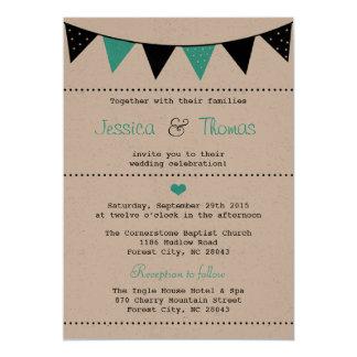La collection moderne de mariage d'étamine de carton d'invitation  12,7 cm x 17,78 cm