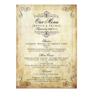 La collection vintage de mariage de Flourish Carton D'invitation 11,43 Cm X 15,87 Cm