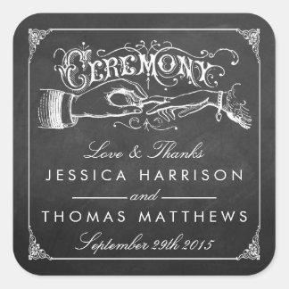 La collection vintage de mariage de tableau de sticker carré