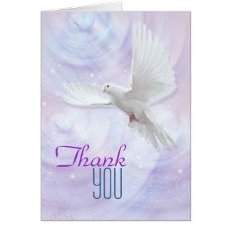 La colombe religieuse de confirmation vous cartes de vœux