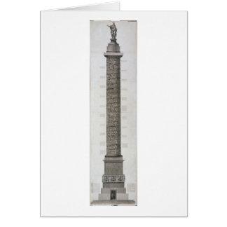 La colonne de Trajan (gravure) Carte De Vœux