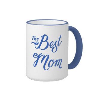 La conception bleue moderne des textes de la mug ringer