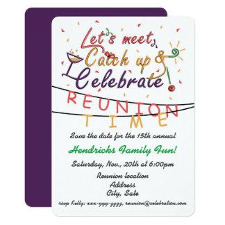La conception de la Réunion pour des familles, Carton D'invitation 12,7 Cm X 17,78 Cm