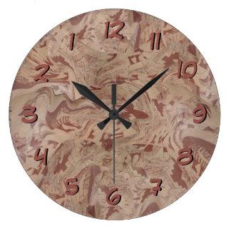 La conception d'Inka synchronisent vers l'arrière Grande Horloge Ronde