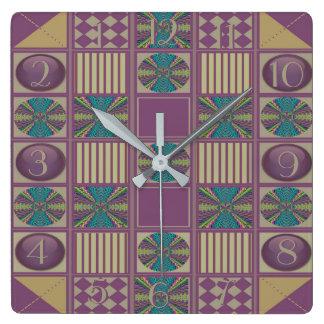 La conception profonde d'édredon d'abrégé sur horloge carrée