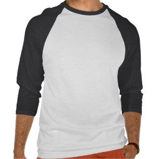La configuration basse et se dépêchent 3/4 raglan t-shirt