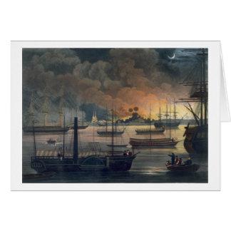 La conflagration de Dalla sur la rivière de Carte De Vœux