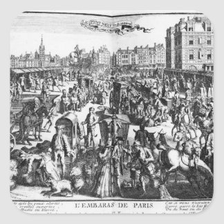 La congestion à Paris Sticker Carré