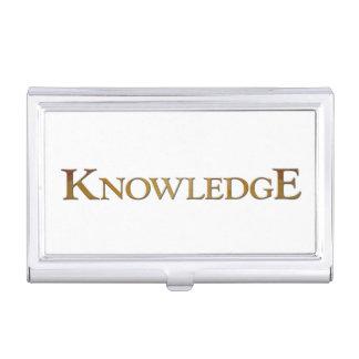 La connaissance porte-cartes de visite