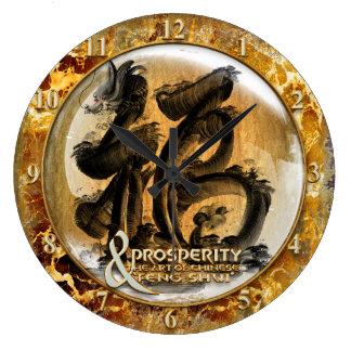LA CONNEXION DE PROSPÉRITÉ : Art de Fengshui Grande Horloge Ronde