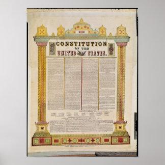 La constitution des Etats-Unis d'Amérique Poster