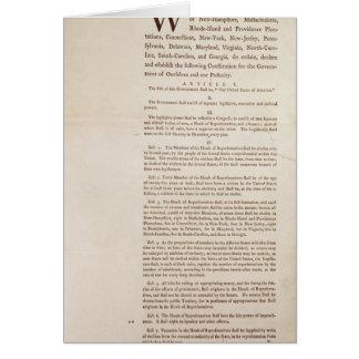 La constitution d'Etats-Unis, 1787 Carte De Vœux