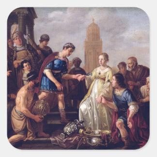 La continence de Scipio 1643 Autocollants Carrés