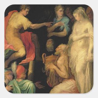 La continence de Scipio principal (237-183 AVANT Sticker Carré