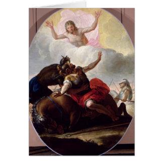 La conversion de St Paul Carte De Vœux