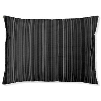 La copie de motif rayé barre le gris gris noir lit pour animaux