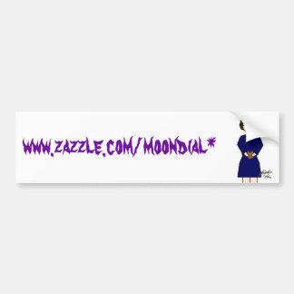 La copie d'intellect, www.zazzle.com/moondial* autocollant de voiture