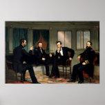 La copie historique d'Abe Lincoln de conciliateurs Affiche
