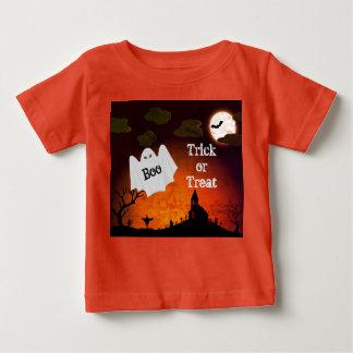 La copie mignonne de fantôme de Halloween badine T-shirt Pour Bébé