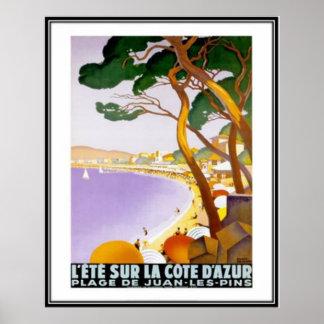 La Côte d Azur vintage France - Poster