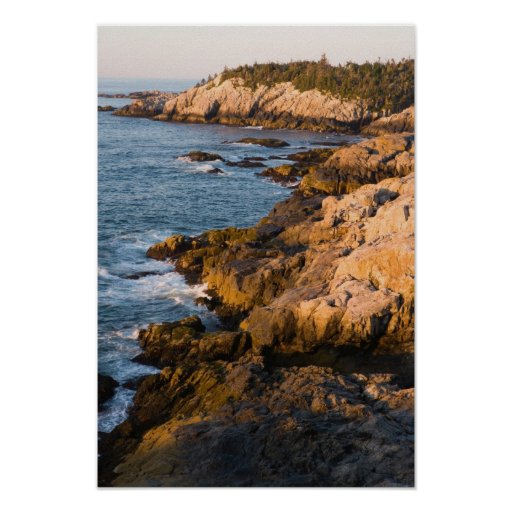 La côte rocheuse de l'Au Haut d'île au Maine Poster