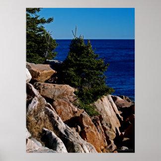 La côte rocheuse du Maine Affiche