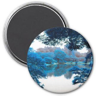 La couleur bleue a effectué la nature fraîche et aimant
