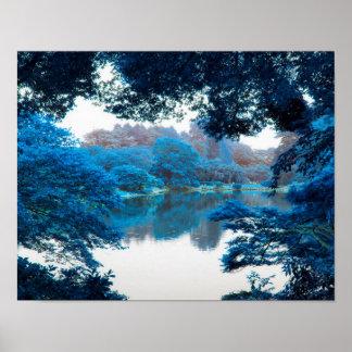 La couleur bleue a effectué la nature fraîche et poster