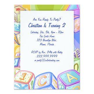 La couleur bloque l'invitation de 4,25 x 5,5 carton d'invitation 10,79 cm x 13,97 cm