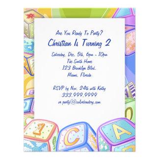 La couleur bloque l'invitation de 4,25 x 5,5 pouce