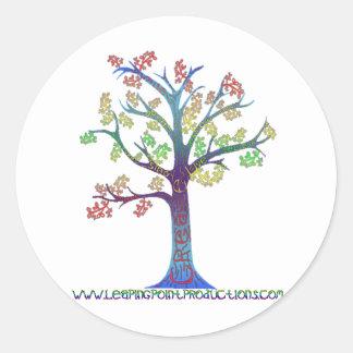 La couleur créent l arbre autocollants