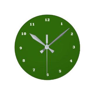 La couleur de changement du modèle do-it-yourself horloge ronde