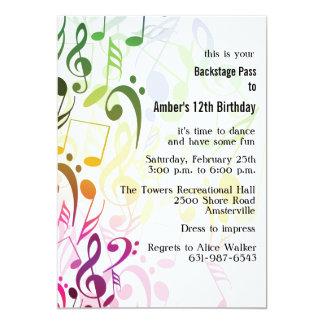 La couleur de l'invitation de musique carton d'invitation  12,7 cm x 17,78 cm