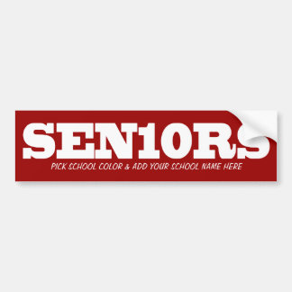 La couleur de Seniors_Pick et ajoutent l'école 201 Autocollant De Voiture