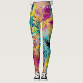 """La couleur guêtres de joie"" par MaryLea Harris Leggings"