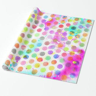 la couleur pour aquarelle vibrante colorée papier cadeau noël
