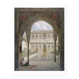 La cour d'Alberca à Alhambra, Grenade, Carte Postale