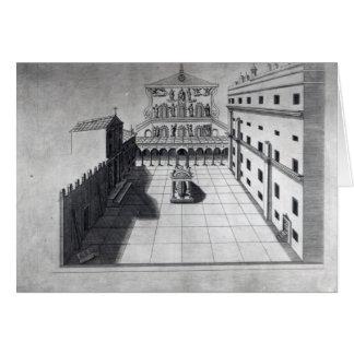 La cour de belvédère à Rome de vieux St Peter Carte De Vœux
