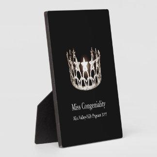 La couronne argentée de la Mlle Etats-Unis Plaque Photo