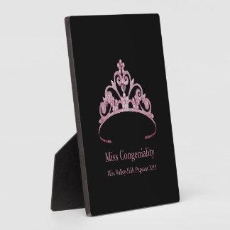 La couronne mauve de diadème de Mlle Amérique Plaque Photo