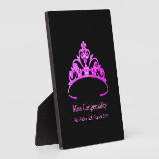 La couronne pourpre de diadème de Mlle Amérique Plaque Photo