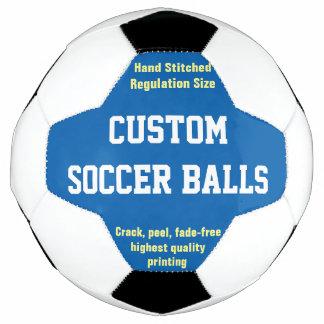 La coutume a imprimé le ballon de football